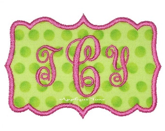 Instant Download Frame 2 Machine Embroidery Applique Design 4x4, 5x7 and 6x10