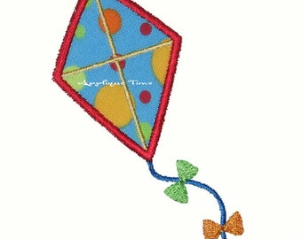 Instant Download Kite Machine Embroidery Applique Design 4x4, 5x7 and 6x10