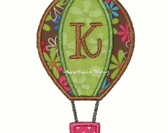 Instant Download Hot Air Balloon Machine Embroidery Applique Design 4x4, 5x7 and 6x10