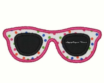 Instant Download Sunglasses Machine Embroidery Applique Design 4x4, 5x7 and 6x10