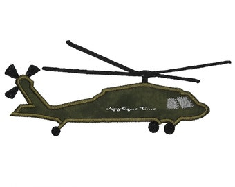 Instant Download Blackhawk Helicopter Machine Embroidery Applique Design 5x7 and 6x10