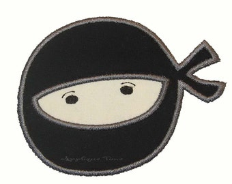 Instant Download Ninja Machine Embroidery Applique Design 4x4, 5x7 and 6x10