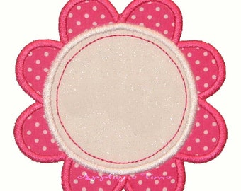 Instant Download Flower Frame Machine Embroidery Applique Design 4x4, 5x7 and 6x10