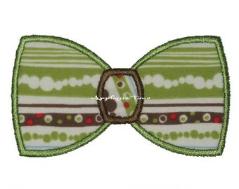 Instant Download Bow Tie Machine Embroidery Applique Design 4x4, 5x7, 6x10 and 2 Mini Fill Sizes