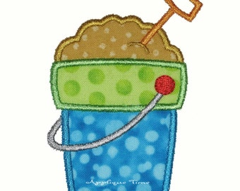 Instant Download Shovel and Pail Machine Embroidery Applique Design 4x4, 5x7 and 6x10