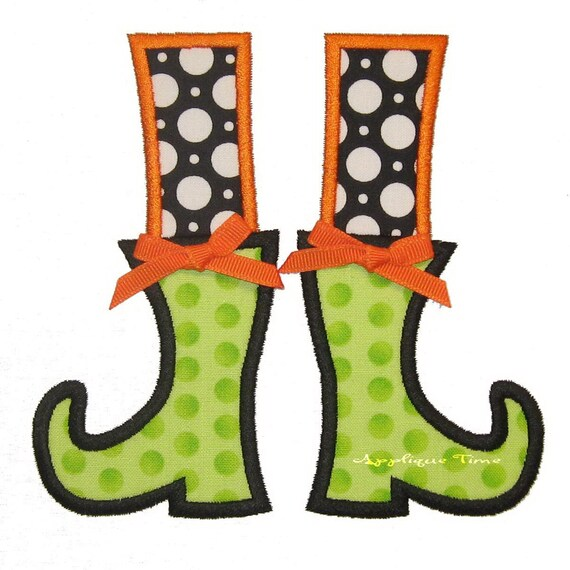Instant Download Witch Boots with and without Buckle Machine Embroidery Applique Design 4x4, 5x7 and 6x10