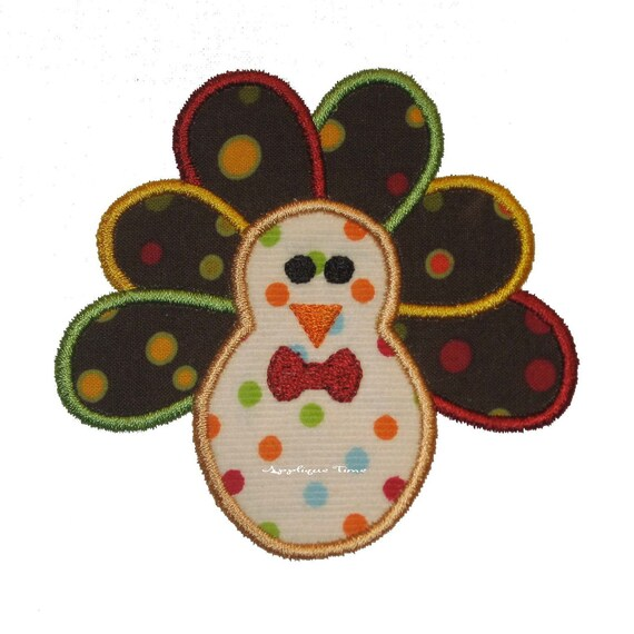Boy turkey machine embroidery applique design and