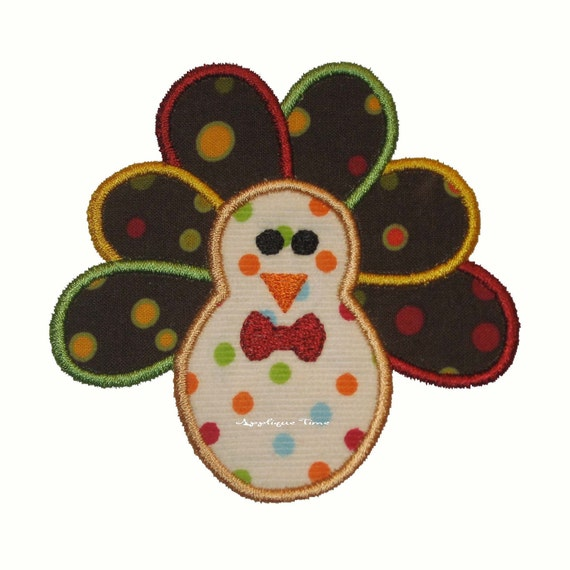Instant Download Boy Turkey Machine Embroidery Applique Design 4x4, 5x7 and 6x10