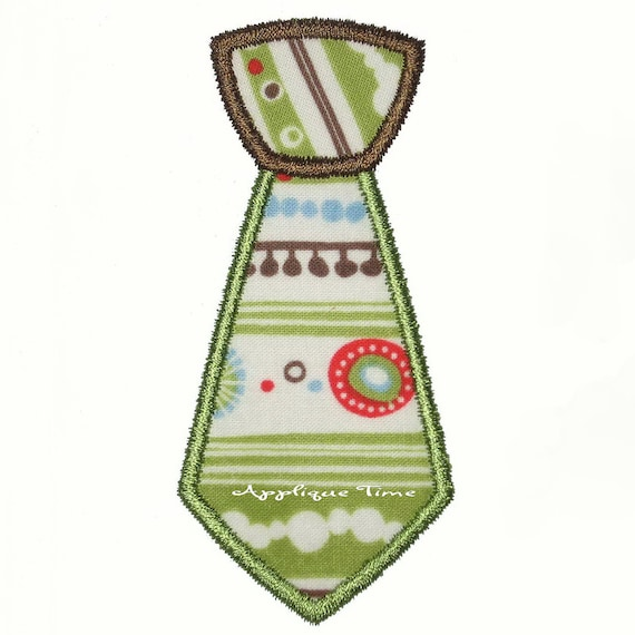 Instant Download Tie Machine Embroidery Applique Design 4x4, 5x7 and 6x10