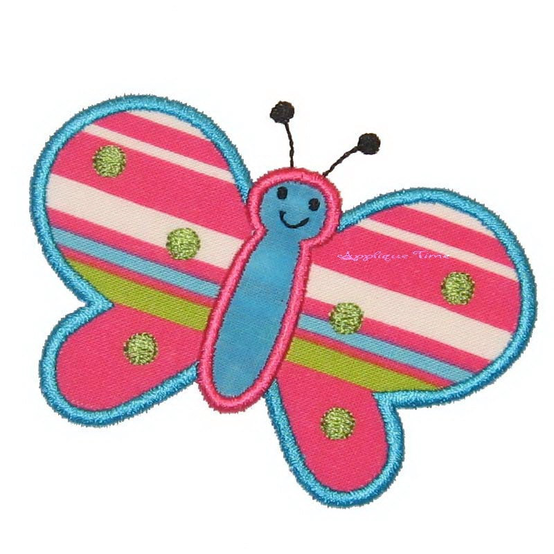 Instant download butterfly machine embroidery applique design