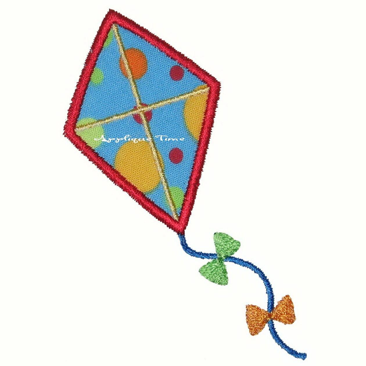 instant download kite machine embroidery applique design 4x4. Black Bedroom Furniture Sets. Home Design Ideas