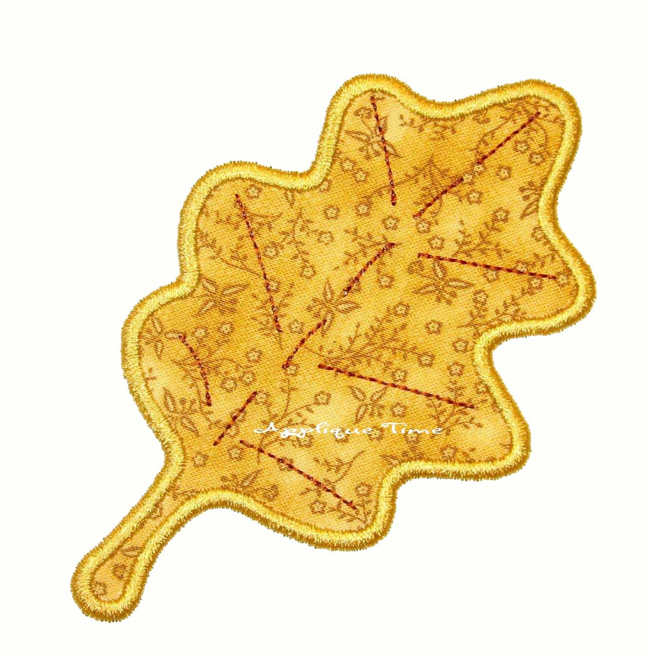 Instant download oak leaf machine embroidery applique design