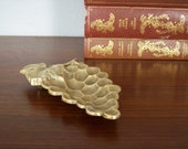Vintage Brass Grape Dish or Tray