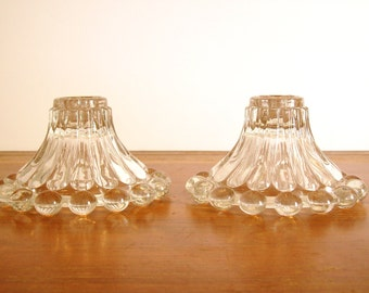 Boopie Glass Candle Holders, Hobnail, Candlewick