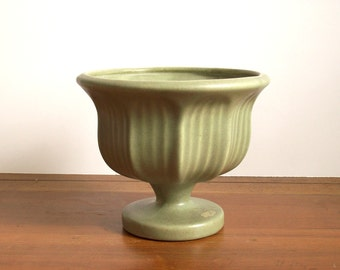 Vintage Pottery Planter, Olive Green, Haeger, Large