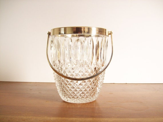 Vintage Crystal and Silver Ice Bucket