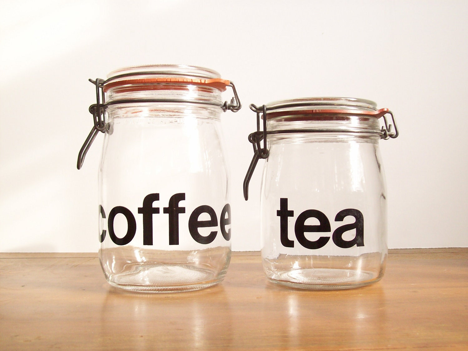 French Typography Jars Coffee And Tea Helvetica By