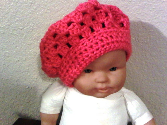 Crochet Pattern Chef Hat : Pattern NO. 21 Crochet Beret Cap includes 5 sizes