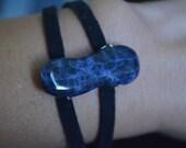 Deep Blue Sea Stone and Suede Bracelet