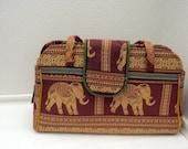 Golden Elephants Tribal Bag