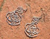 Gorgeous flower dangle earrings