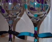 Special Listing for Hazel -  Personalized Wine Glasses (5 sets)