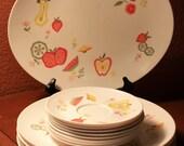 Boontonware Somerset Melamine Fruit Pattern Dishes