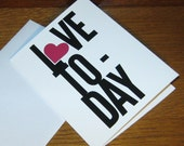 Love Today - Card with Envelope