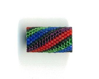 Woven Glass (Dread) Bead Tube ... ... ... 12mm/o-9mm/i ... ... ... ... ... 20x20 * 559