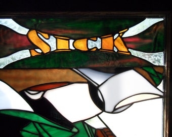 Snowboarder Stained Glass Sick Day