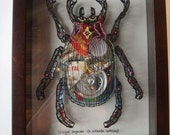 LITTER BUG---original art embroidered plexiglass
