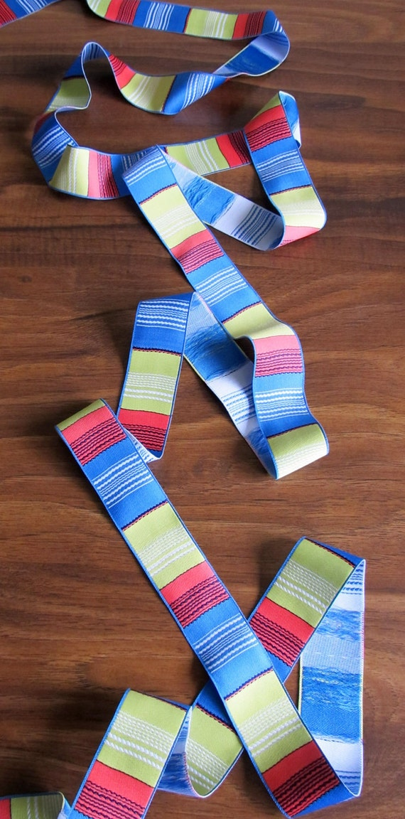 Color Block Stripes - Woven ribbon - Multicolored striped woven ribbon