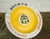 Vintage Becker Hell-Extra Pilsner Cigarette Ashtray