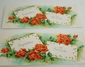 Two- Congratulations & Best Wishes Vintage Sunshine Greeting Card- Unused