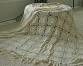 Handmade Crochet Bedspread or Table cover