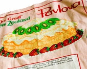 New Zealand Linen Pavlova Recipe Tea Towel