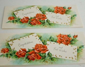 Vintage Sunshine Greeting Card- Unused, Two Congratulations  Best Wishes