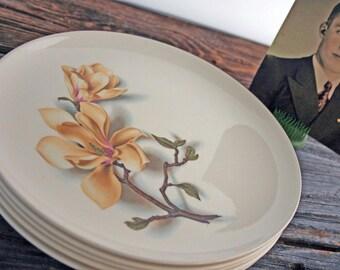 Nine Pcs Universal Ballerina Magnolia Serveware-Dinner Plates, Veggie Bowl, Butter dish, Gravy Boat