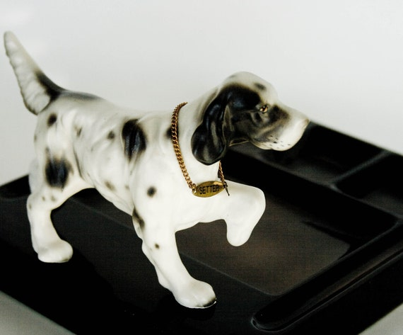 Ceramic Valet Caddy by Swank with English Setter