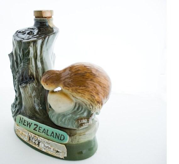 Jim Beam Whiskey Liquor Decanter of New Zealand Kiwi