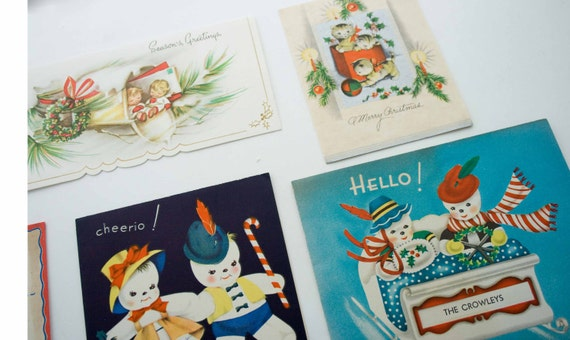 8- Christmas Cards from the Mid Century