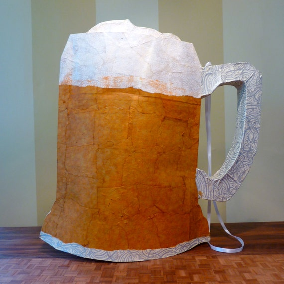 Frosty Mug O' Beer Piñata (amber and white, party size) (AS-IS)