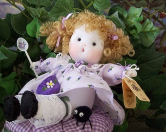 Nursery Rhyme Doll ..... Little Miss Muffet in Lavender....