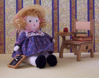 SCHOOL GIRL...OOAK Doll with Desk