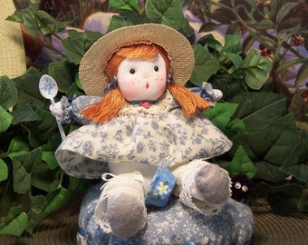 Red Headed Miss Muffet......Nursery Rhyme Doll