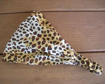Womens Headband Fabric Headband Spring Fashion Accessories Women Headwrap Bandana in Cheetah print by creationsbyellyn