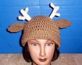 Crochet Deer Hat.