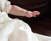 Custom order for Tracy/chadasha - Linen Dove Baptism / Christening Gown