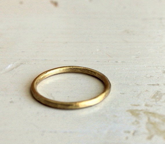 Gold wedding band. 18k. Sweet and simple. Lana