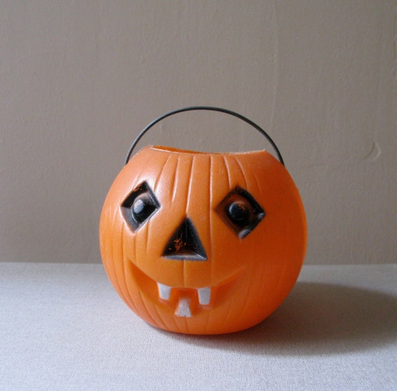 Vintage Blow Mold Halloween Pumpkin